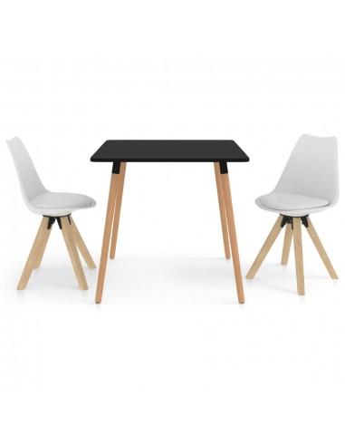 Valgomojo baldų komplektas, 3 dalių, baltas (287239+324221)   Virtuvės ir Valgomojo Baldų Komplektai   duodu.lt