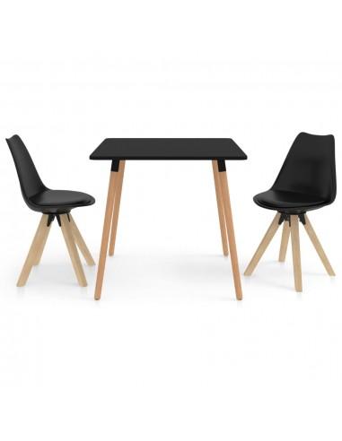 Valgomojo baldų komplektas, 3 dalių, juodas (287239+324225) | Virtuvės ir Valgomojo Baldų Komplektai | duodu.lt