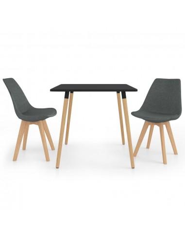 Valgomojo baldų komplektas, 3 dalių, pilkas (287239+324159) | Virtuvės ir Valgomojo Baldų Komplektai | duodu.lt