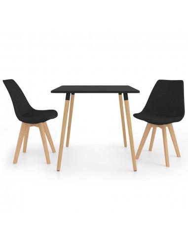 Valgomojo baldų komplektas, 3 dalių, juodas (287239+324167) | Virtuvės ir Valgomojo Baldų Komplektai | duodu.lt