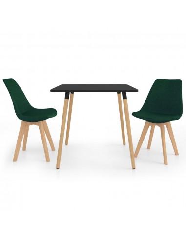 Valgomojo baldų komplektas, 3 dalių, žalias (287239+324171)   Virtuvės ir Valgomojo Baldų Komplektai   duodu.lt