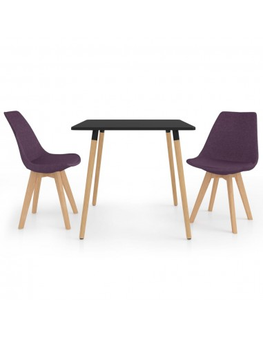 Valgomojo baldų komplektas, 3 dalių, violetinis (287239+324173) | Virtuvės ir Valgomojo Baldų Komplektai | duodu.lt