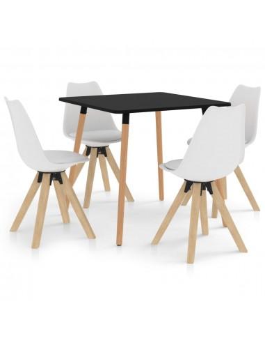 Valgomojo baldų komplektas, 5 dalių, baltas (287239+324222) | Virtuvės ir Valgomojo Baldų Komplektai | duodu.lt