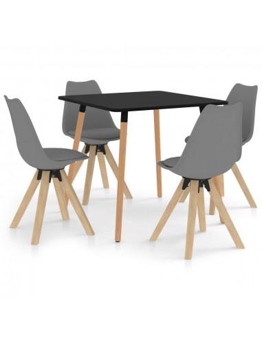 Valgomojo baldų komplektas, 5 dalių, pilkas (287239+324224) | Virtuvės ir Valgomojo Baldų Komplektai | duodu.lt
