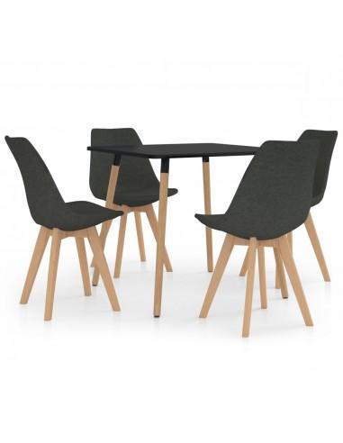 Valgomojo baldų komplektas, 5 dalių, pilkas (287239+324158) | Virtuvės ir Valgomojo Baldų Komplektai | duodu.lt