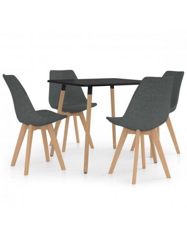 Valgomojo baldų komplektas, 5 dalių, pilkas (287239+324160) | Virtuvės ir Valgomojo Baldų Komplektai | duodu.lt