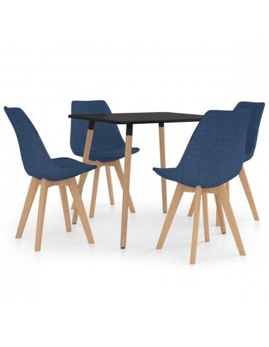 Valgomojo baldų komplektas, 5 dalių, mėlynas (287239+324162) | Virtuvės ir Valgomojo Baldų Komplektai | duodu.lt