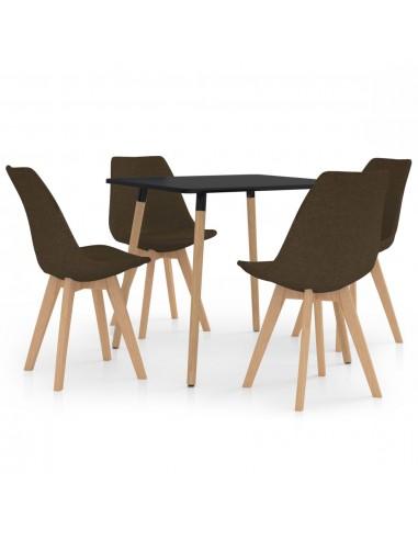 Valgomojo baldų komplektas, 5 dalių, rudas (287239+324164) | Virtuvės ir Valgomojo Baldų Komplektai | duodu.lt
