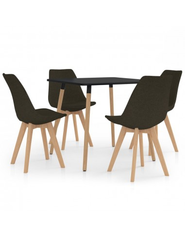 Valgomojo baldų komplektas, 5 dalių, rudas (287239+324166) | Virtuvės ir Valgomojo Baldų Komplektai | duodu.lt