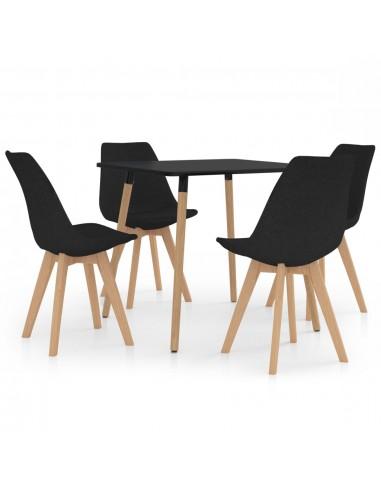 Valgomojo baldų komplektas, 5 dalių, juodas (287239+324168) | Virtuvės ir Valgomojo Baldų Komplektai | duodu.lt