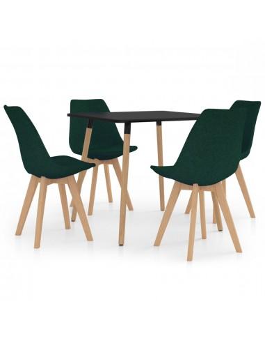 Valgomojo baldų komplektas, 5 dalių, žalias (287239+324172) | Virtuvės ir Valgomojo Baldų Komplektai | duodu.lt