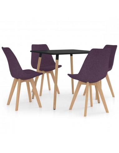 Valgomojo baldų komplektas, 5 dalių, violetinis (287239+324174) | Virtuvės ir Valgomojo Baldų Komplektai | duodu.lt