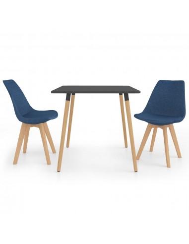 Valgomojo baldų komplektas, 3 dalių, mėlynas (287240+324161)   Virtuvės ir Valgomojo Baldų Komplektai   duodu.lt