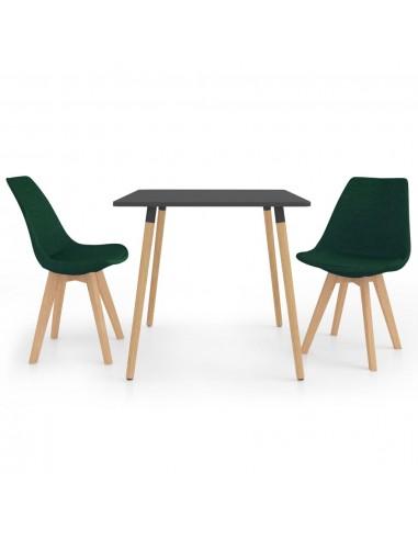 Valgomojo baldų komplektas, 3 dalių, žalias (287240+324171)   Virtuvės ir Valgomojo Baldų Komplektai   duodu.lt