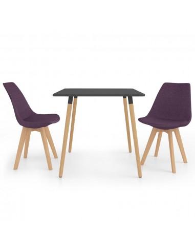 Valgomojo baldų komplektas, 3 dalių, violetinis (287240+324173)   Virtuvės ir Valgomojo Baldų Komplektai   duodu.lt