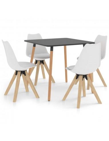 Valgomojo baldų komplektas, 5 dalių, baltas (287240+324222) | Virtuvės ir Valgomojo Baldų Komplektai | duodu.lt