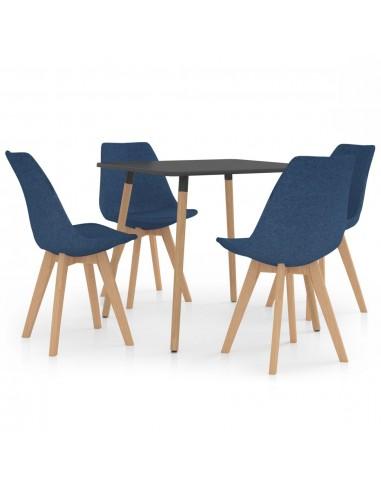 Valgomojo baldų komplektas, 5 dalių, mėlynas (287240+324162) | Virtuvės ir Valgomojo Baldų Komplektai | duodu.lt