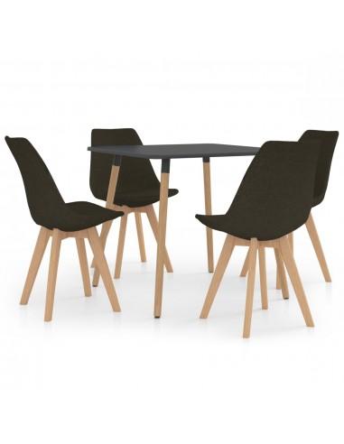 Valgomojo baldų komplektas, 5 dalių, rudas (287240+324166) | Virtuvės ir Valgomojo Baldų Komplektai | duodu.lt