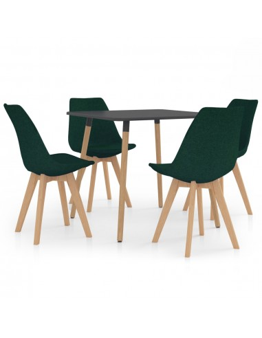 Valgomojo baldų komplektas, 5 dalių, žalias (287240+324172) | Virtuvės ir Valgomojo Baldų Komplektai | duodu.lt