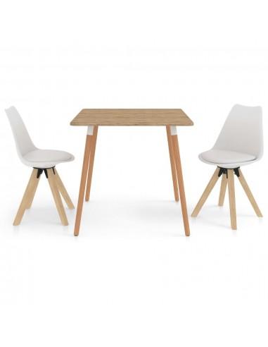 Valgomojo baldų komplektas, 3 dalių, baltas (287241+324221)   Virtuvės ir Valgomojo Baldų Komplektai   duodu.lt