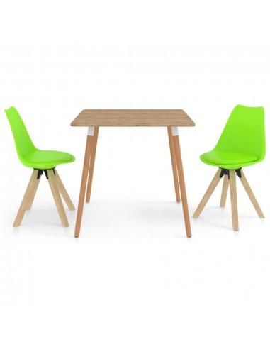 Valgomojo komplektas, 3 dalių, žalios spalvos | Virtuvės ir Valgomojo Baldų Komplektai | duodu.lt