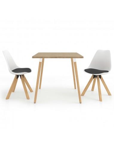 Valgomojo baldų komplektas, 3 dalių, juodos ir baltos spalvos | Virtuvės ir Valgomojo Baldų Komplektai | duodu.lt