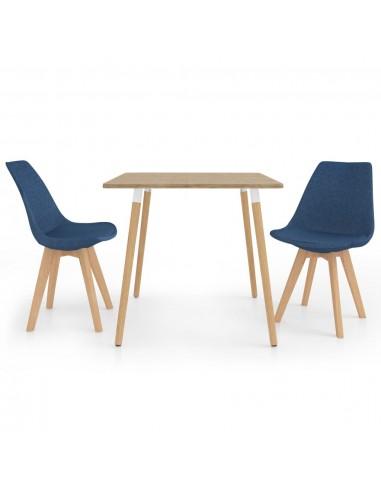 Valgomojo baldų komplektas, 3 dalių, mėlynas (287241+324161) | Virtuvės ir Valgomojo Baldų Komplektai | duodu.lt
