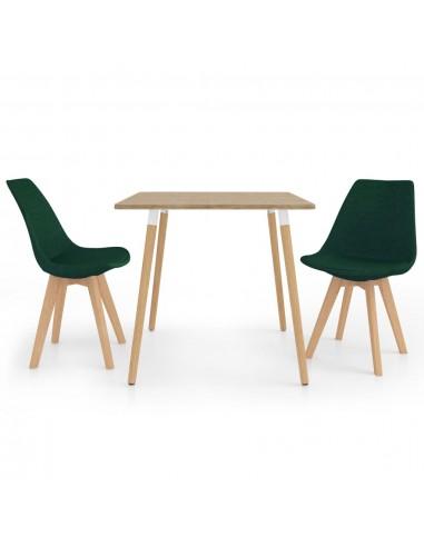 Valgomojo baldų komplektas, 3 dalių, žalias (287241+324171)   Virtuvės ir Valgomojo Baldų Komplektai   duodu.lt