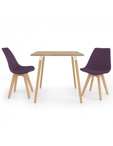 Valgomojo baldų komplektas, 3 dalių, violetinis (287241+324173) | Virtuvės ir Valgomojo Baldų Komplektai | duodu.lt