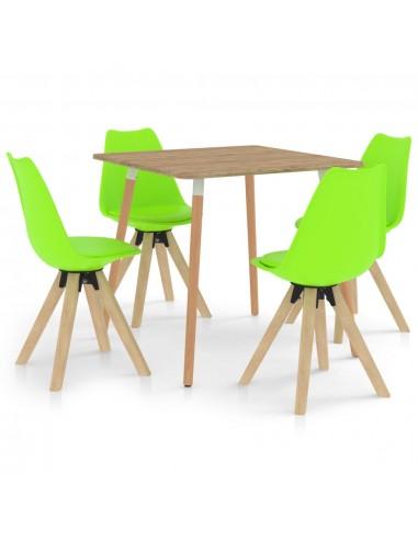 Valgomojo komplektas, 5 dalių, žalios spalvos | Virtuvės ir Valgomojo Baldų Komplektai | duodu.lt