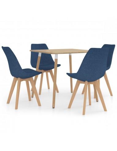 Valgomojo baldų komplektas, 5 dalių, mėlynas (287241+324162) | Virtuvės ir Valgomojo Baldų Komplektai | duodu.lt