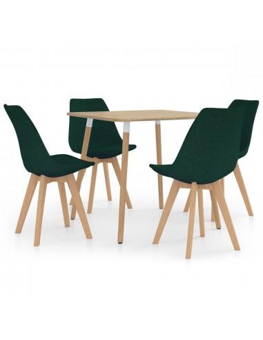 Valgomojo baldų komplektas, 5 dalių, žalias (287241+324172) | Virtuvės ir Valgomojo Baldų Komplektai | duodu.lt