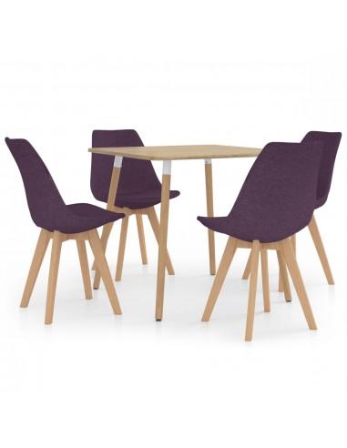 Valgomojo baldų komplektas, 5 dalių, violetinis (287241+324174)   Virtuvės ir Valgomojo Baldų Komplektai   duodu.lt