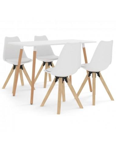 Valgomojo baldų komplektas, 5 dalių, baltas (287242+324222) | Virtuvės ir Valgomojo Baldų Komplektai | duodu.lt