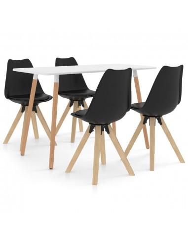 Valgomojo baldų komplektas, 5 dalių, juodas (287242+324226) | Virtuvės ir Valgomojo Baldų Komplektai | duodu.lt