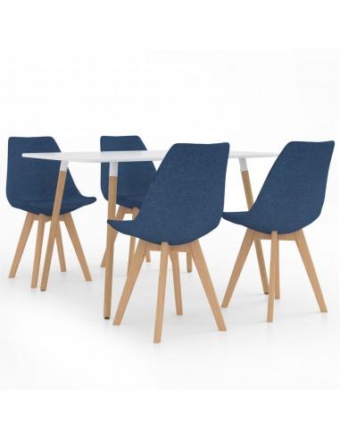 Valgomojo baldų komplektas, 5 dalių, mėlynas (287242+324162) | Virtuvės ir Valgomojo Baldų Komplektai | duodu.lt