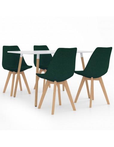 Valgomojo baldų komplektas, 5 dalių, žalias (287242+324172) | Virtuvės ir Valgomojo Baldų Komplektai | duodu.lt