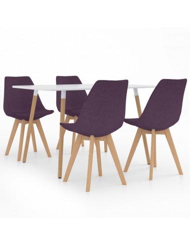 Valgomojo baldų komplektas, 5 dalių, violetinis (287242+324174)   Virtuvės ir Valgomojo Baldų Komplektai   duodu.lt