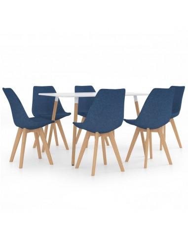 Valgomojo baldų komplektas, 7 dalių, mėlynas (287242+3x324161) | Virtuvės ir Valgomojo Baldų Komplektai | duodu.lt