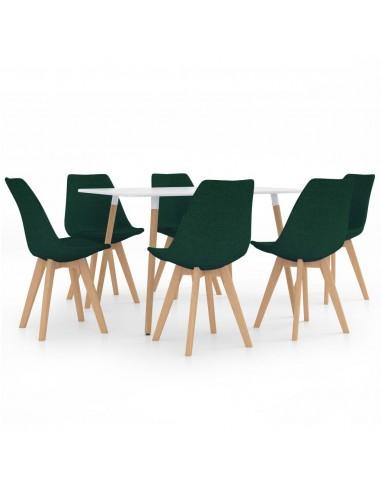 Valgomojo baldų komplektas, 7 dalių, žalias (287242+3x324171)   Virtuvės ir Valgomojo Baldų Komplektai   duodu.lt