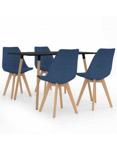 Valgomojo baldų komplektas, 5 dalių, mėlynas (287243+324162) | Virtuvės ir Valgomojo Baldų Komplektai | duodu.lt