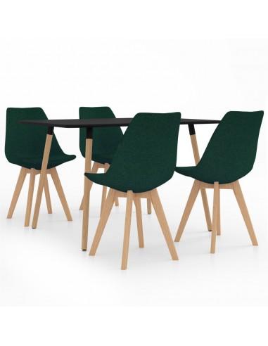 Valgomojo baldų komplektas, 5 dalių, žalias (287243+324172)   Virtuvės ir Valgomojo Baldų Komplektai   duodu.lt