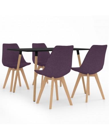 Valgomojo baldų komplektas, 5 dalių, violetinis (287243+324174)   Virtuvės ir Valgomojo Baldų Komplektai   duodu.lt