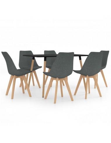 Valgomojo baldų komplektas, 7 dalių, pilkas (287243+3x324159)   Virtuvės ir Valgomojo Baldų Komplektai   duodu.lt