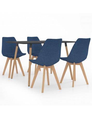Valgomojo baldų komplektas, 5 dalių, mėlynas (287244+324162)   Virtuvės ir Valgomojo Baldų Komplektai   duodu.lt