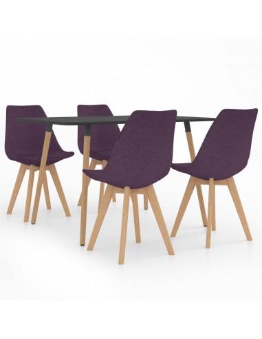 Valgomojo baldų komplektas, 5 dalių, violetinis (287244+324174) | Virtuvės ir Valgomojo Baldų Komplektai | duodu.lt