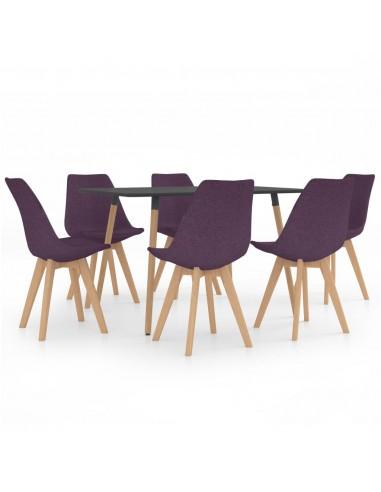 Valgomojo komplektas, 7 dalių, violetinis (287244+3x324173)   Virtuvės ir Valgomojo Baldų Komplektai   duodu.lt