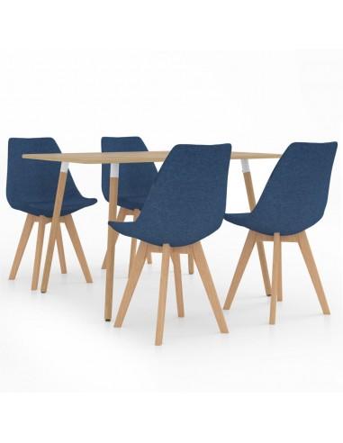 Valgomojo baldų komplektas, 5 dalių, mėlynas (287245+324162)   Virtuvės ir Valgomojo Baldų Komplektai   duodu.lt