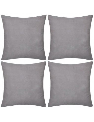 130907 4 Pilki Pagalvėlių Užvalkalai, Medvilnė, 40 x 40 cm   Dekoratyvinės pagalvėlės   duodu.lt