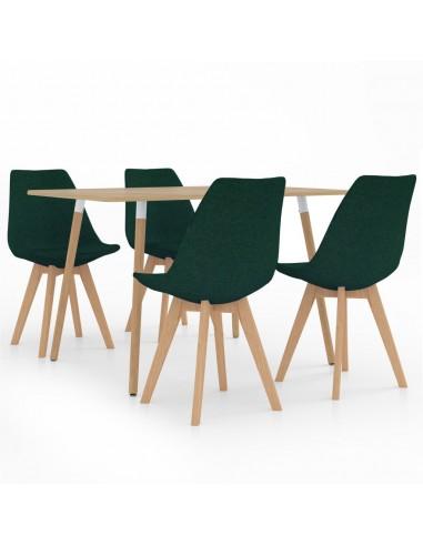 Valgomojo baldų komplektas, 5 dalių, žalias (287245+324172) | Virtuvės ir Valgomojo Baldų Komplektai | duodu.lt